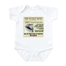 born in 1937 birthday gift Infant Bodysuit