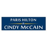 Paris Hilton - Cindy McCain Bumper Bumper Sticker