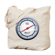 Gas vs Wallet Gauge Tote Bag