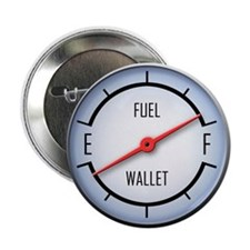 "Gas vs Wallet Gauge 2.25"" Button (100 pack)"