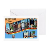 Asheville North Carolina Gree Greeting Cards (Pk o