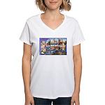 Bangor Maine Greetings Women's V-Neck T-Shirt