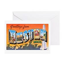Boston Massachusetts Greeting Cards (Pk of 20)