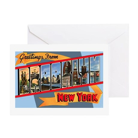 Brooklyn New York Greetings Greeting Card