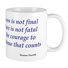 Winston Churchill quote Mug