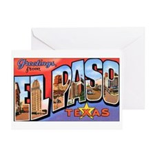 El Paso Texas Greetings Greeting Card