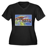 Fort Myers Florida Greetings Women's Plus Size V-N