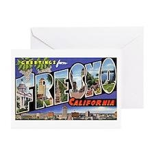 Fresno California Greetings Greeting Cards (Pk of