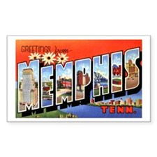 Memphis Tennessee Greetings Rectangle Sticker 10