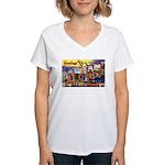 Oakland California Greetings Women's V-Neck T-Shir