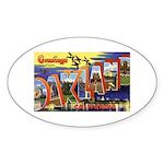 Oakland California Greetings Oval Sticker (10 pk)