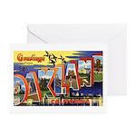 Oakland California Greetings Greeting Cards (Pk of