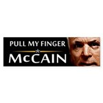 Pull My Finger Bumper Sticker
