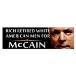 Rich Retired Whites Bumper Sticker