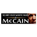 Scary Old White Man Bumper Sticker