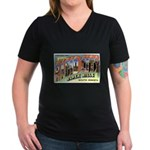 Rapid City South Dakota Greet Women's V-Neck Dark