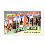 Rapid City South Dakota Greet Rectangle Sticker 1