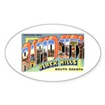 Rapid City South Dakota Greet Oval Sticker (10 pk)