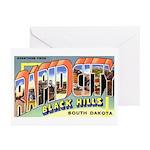 Rapid City South Dakota Greet Greeting Cards (Pk o