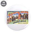 "Rapid City South Dakota Greet 3.5"" Button (10"