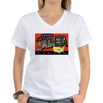 Salina Kansas Greetings Women's V-Neck T-Shirt