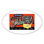 Salina Kansas Greetings Oval Sticker (10 pk)