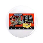 "Salina Kansas Greetings 3.5"" Button"