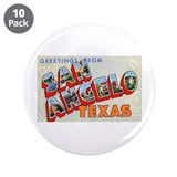 "San Angelo Texas Greetings 3.5"" Button (10 pa"