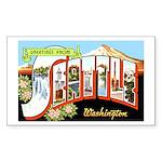 Seattle Washington Greetings Rectangle Sticker 10