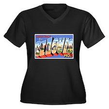 St Louis Missouri Greetings Women's Plus Size V-Ne