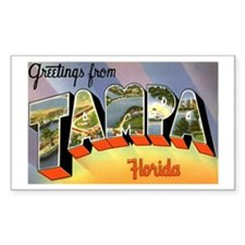 Tampa Florida Greetings Rectangle Sticker 10 pk)
