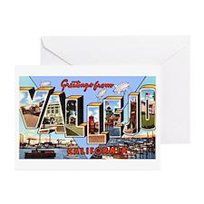 Vallejo California Greetings Greeting Cards (Pk of