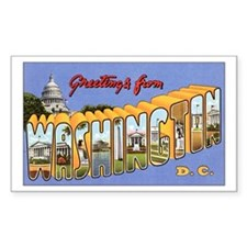 Washington DC Greetings Rectangle Sticker 10 pk)