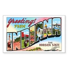 Indiana Greetings Rectangle Sticker 10 pk)