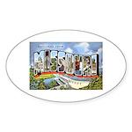 Missouri Greetings Oval Sticker (10 pk)