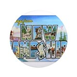 "New Hampshire Greetings 3.5"" Button"