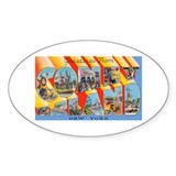 Coney Island New York Oval Sticker (10 pk)
