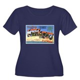 Key West Florida Greetings Women's Plus Size Scoop