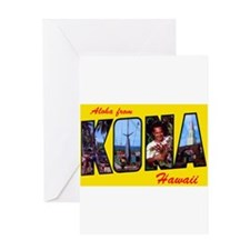 Kona Hawaii Greetings Greeting Card