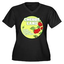 Wisconsin Cherry Land Women's Plus Size V-Neck Dar