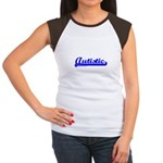 Softball Autistic Women's Cap Sleeve T-Shirt