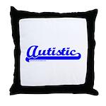 Softball Autistic Throw Pillow