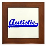 Softball Autistic Framed Tile