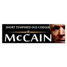 Short Tempered Old Codger Bumper Bumper Sticker