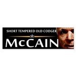 Short Tempered Old Codger Bumper Sticker