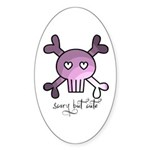 scary but cute Sticker (Oval 10 pk)