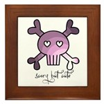scary but cute Framed Tile