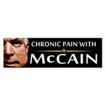 Chronic Pain With McCain Bumper Sticker