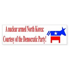 Nuclear Armed North Korea Bumper Sticker (10 pk)