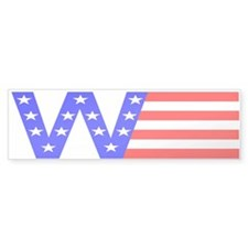 W Flag Bumper Sticker (50 pk)